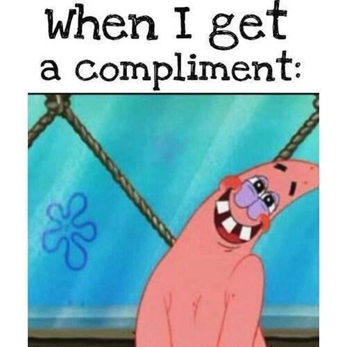 Wat de meest mensen doen als ze een compliment krijgen Goedgenoeg